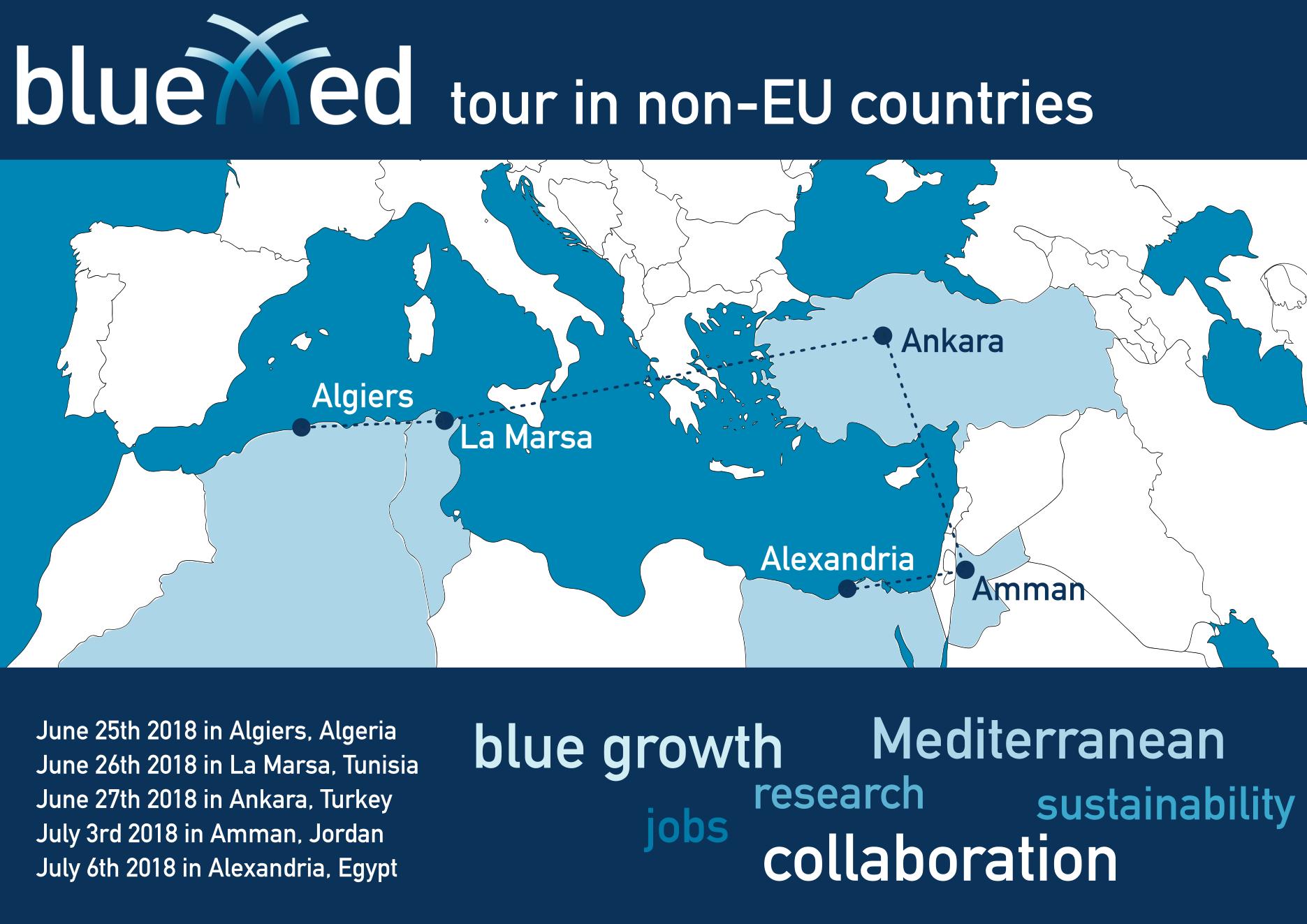 BlueMed tours non-EU countries