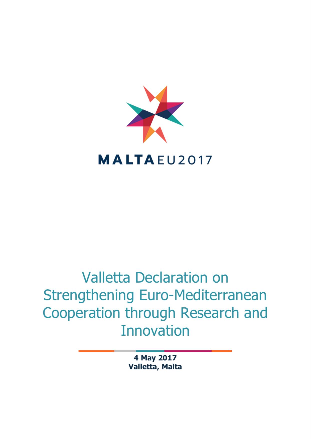 Valletta Declaration - cover