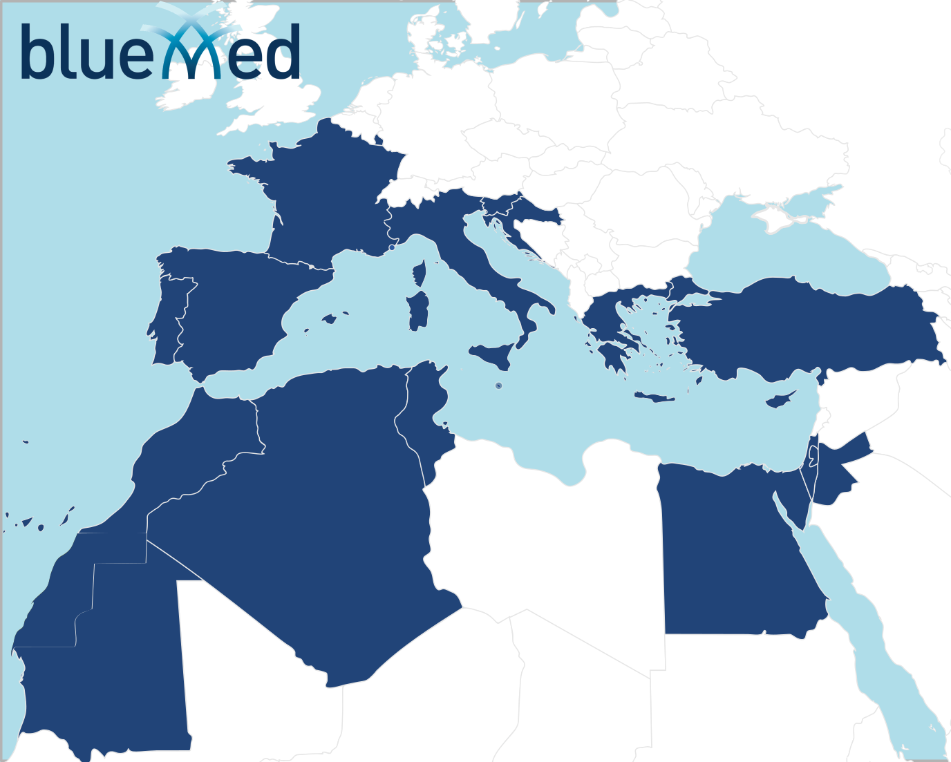The countries participating to BlueMed