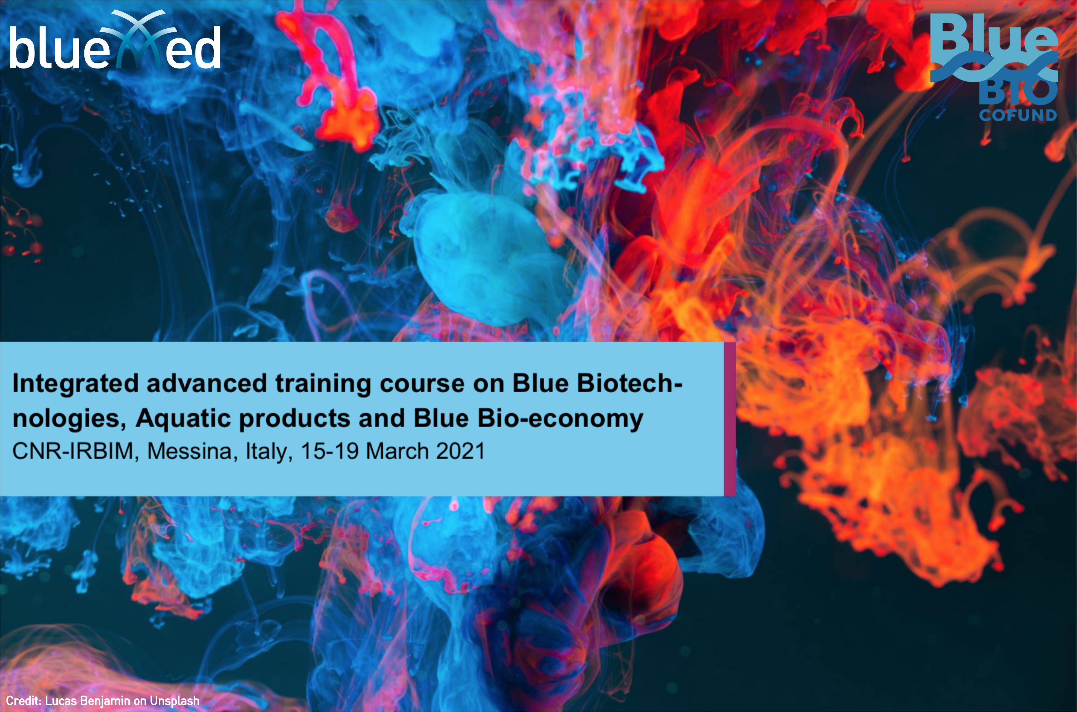 Training course on blue biotechnologies, jointly organised by BlueMed CSA and the BlueBio ERANET COFUND, open for applications